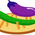 盆棚の「茄子と胡瓜の馬」